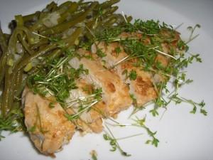 hähnchen-bohnensalat